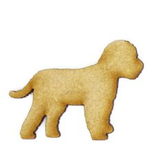Cockapoo Craft Blank, Dog Shape 3mm MDF Laser Cut Pyrography